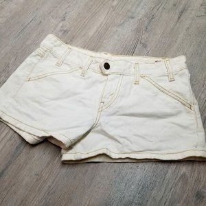 Levi's White Denim Jean Shorts. Perfect Condition!